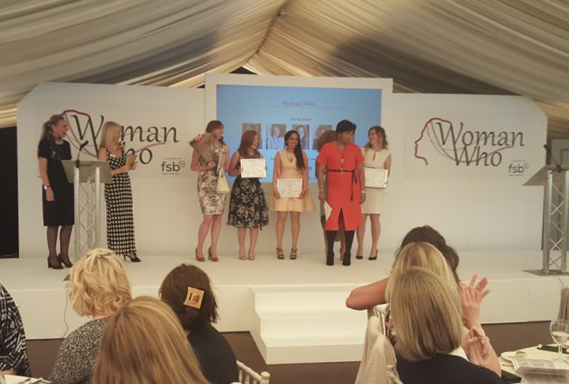 Trish Adudu and the Woman Who Awards winners