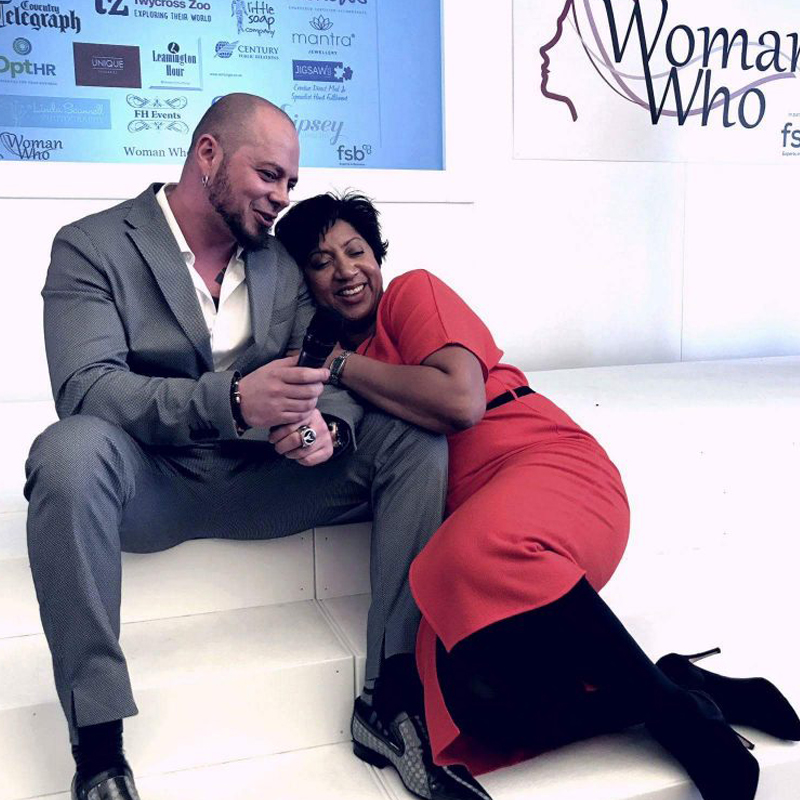 Hercules and Trish at the Woman Who Awards