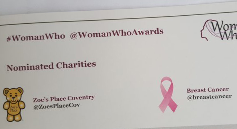 Nominated charities